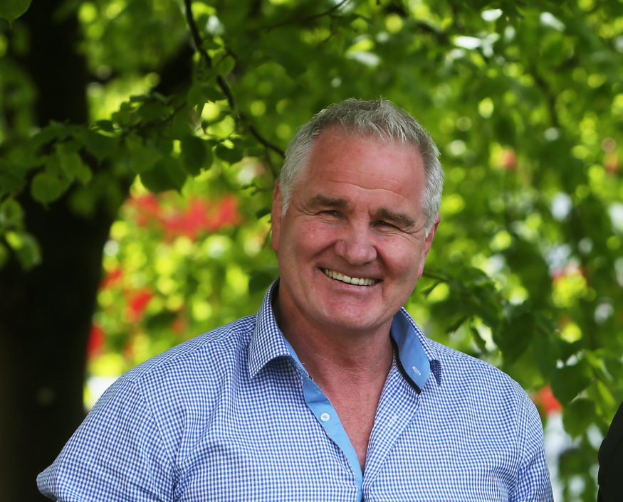 Brent Pope is seen at the launch of Walk in My Shoes in support of St Patrick's Hospital Foundation in Dublin in 2014