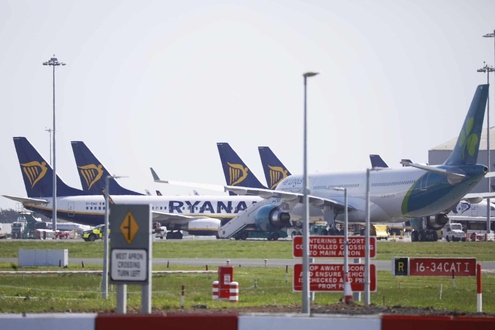 Planes at Dublin Airport