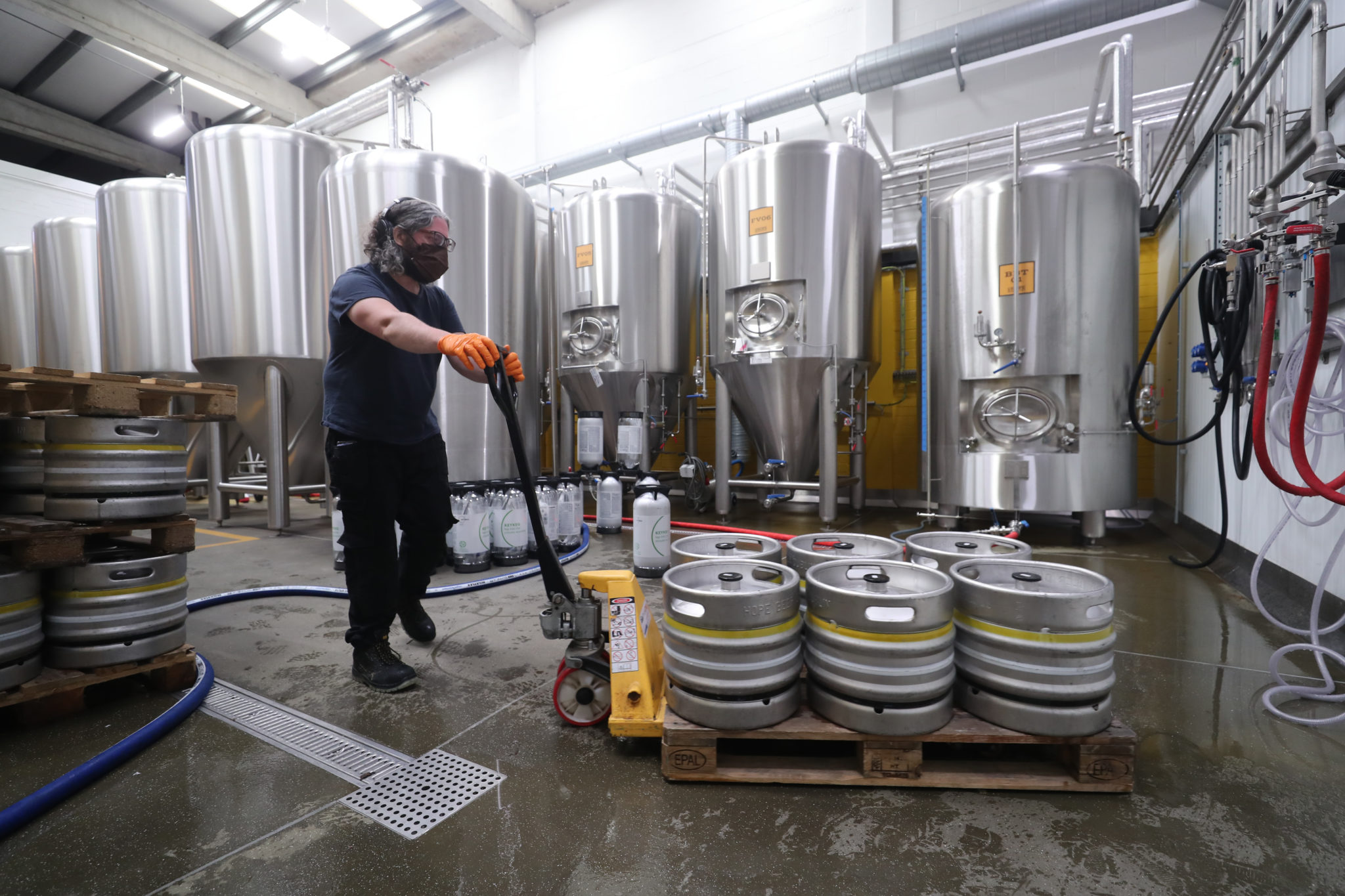 Brewer Richard Hamilton at the Hope Brewery in Dublin