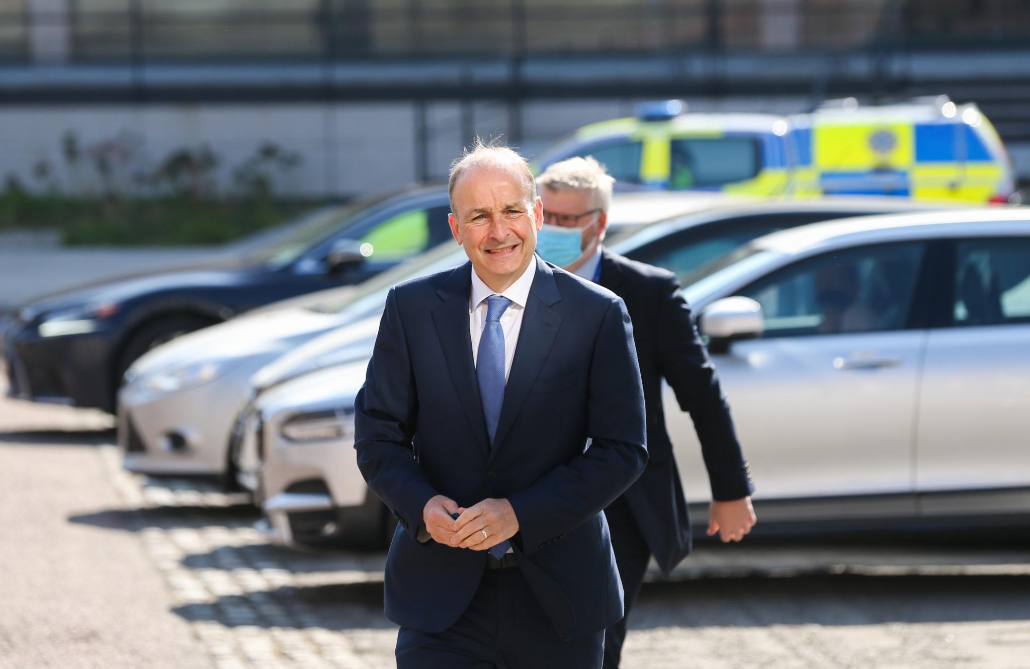 Taoiseach Micheál Martin arriving at Dublin Castle for Cabinet