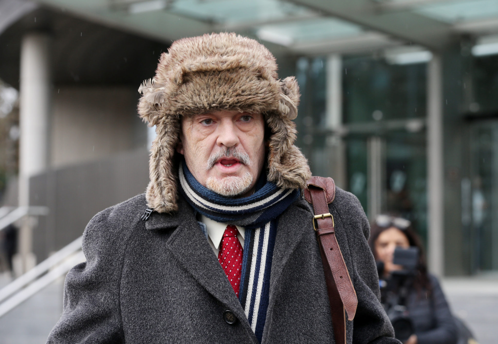 Ian Bailey leaving the High Court after his hearing for extradition proceedings began