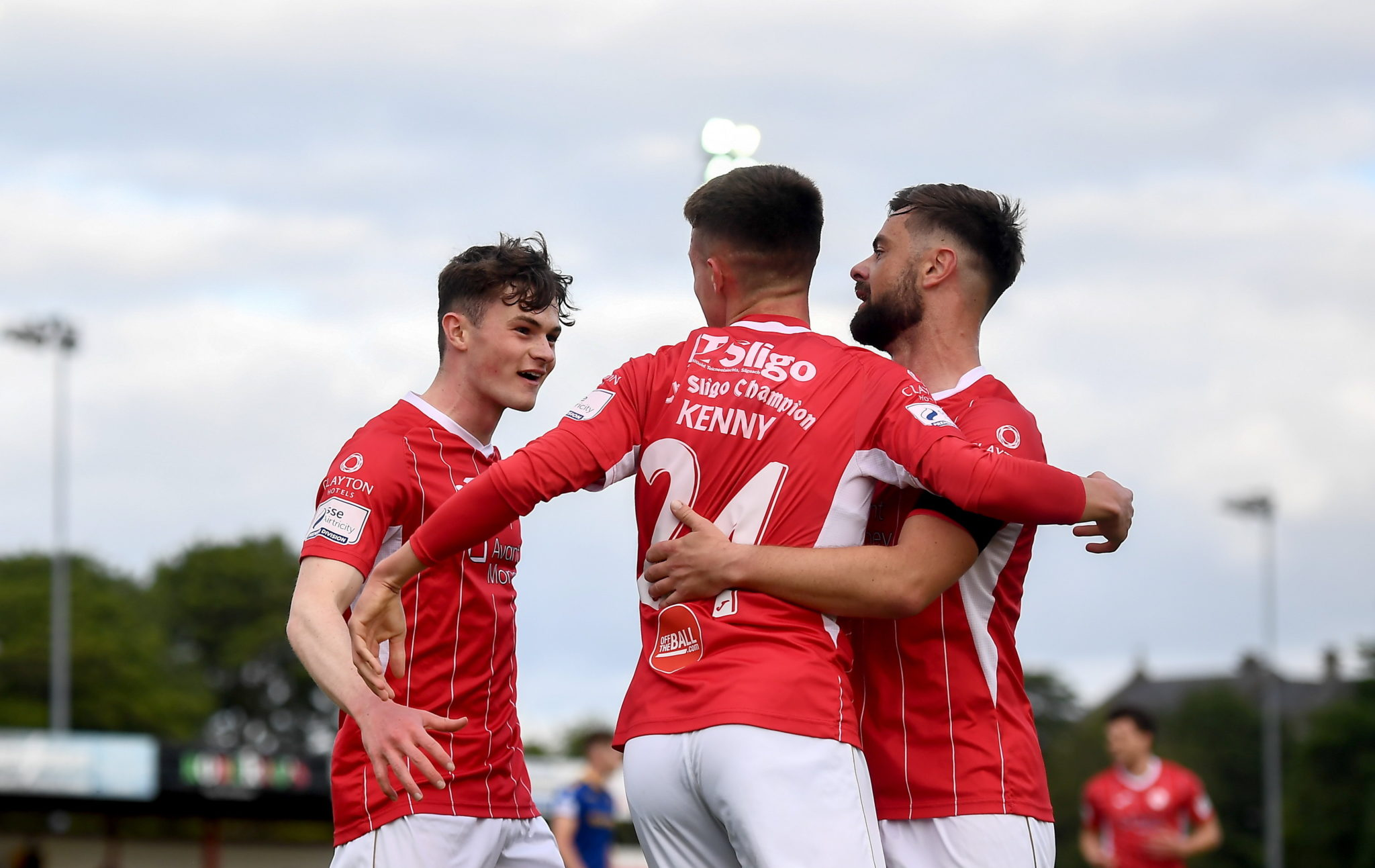 Sligo Rovers players celebrate