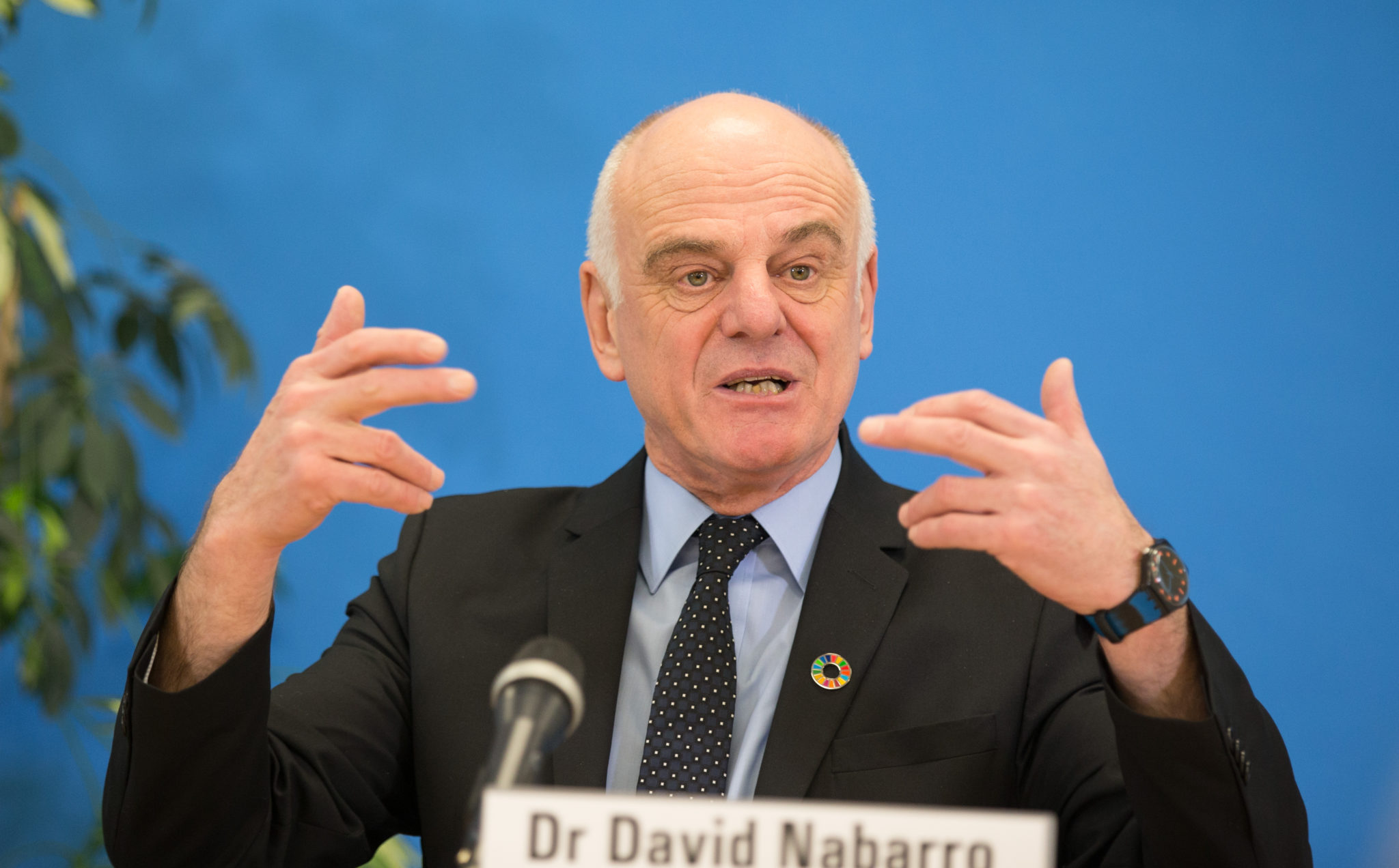 WHO Special Envoy Dr David Nabarro, 26-01-2017. Image: by Xinhua/Sipa USA
