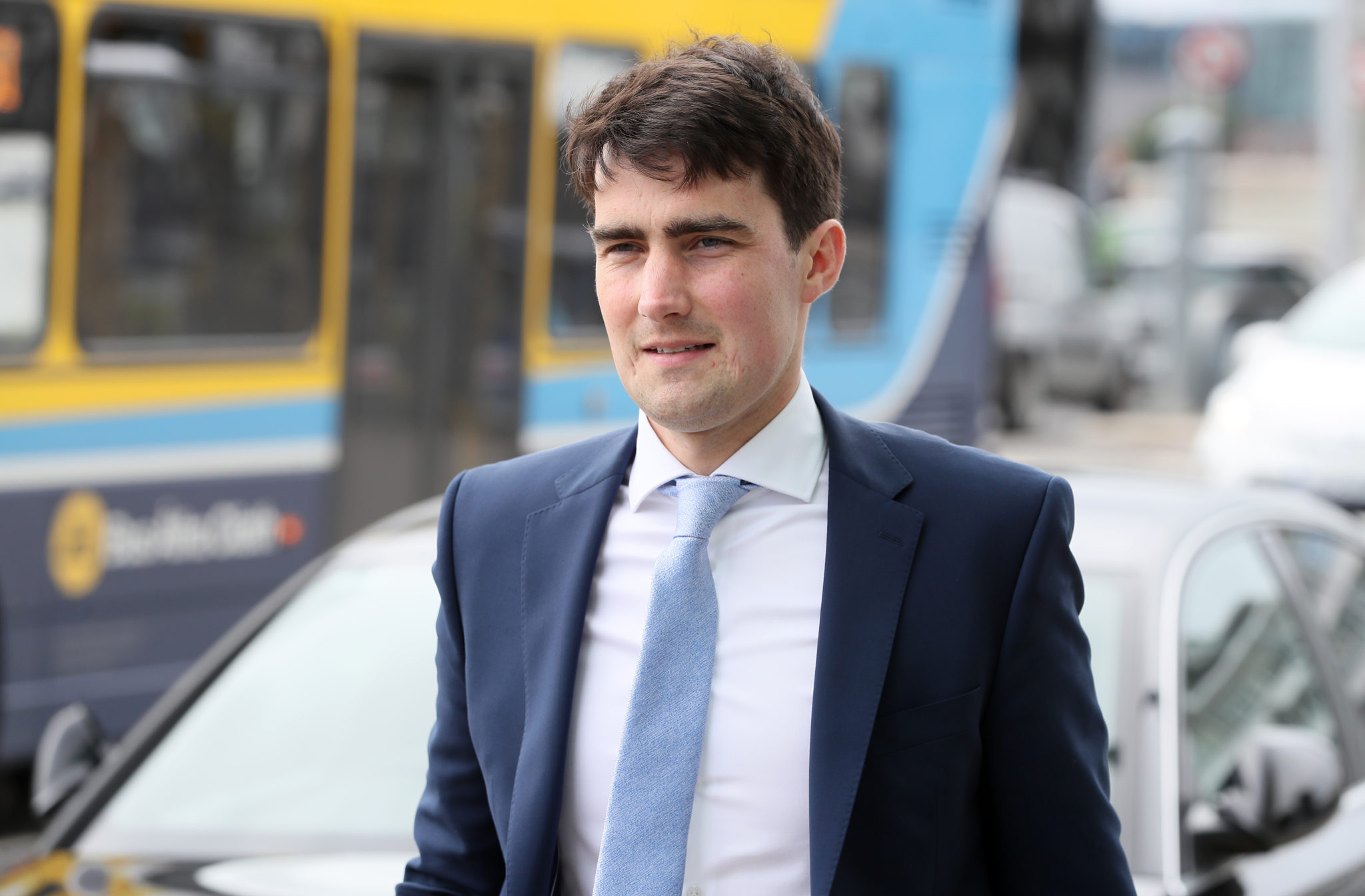 The Minister of State for Sport Jack Chambers arriving at the Convention Centre Dublin for a Dáil session, 15-07-2020. Image: Brian Lawless/PA Archive/PA Images