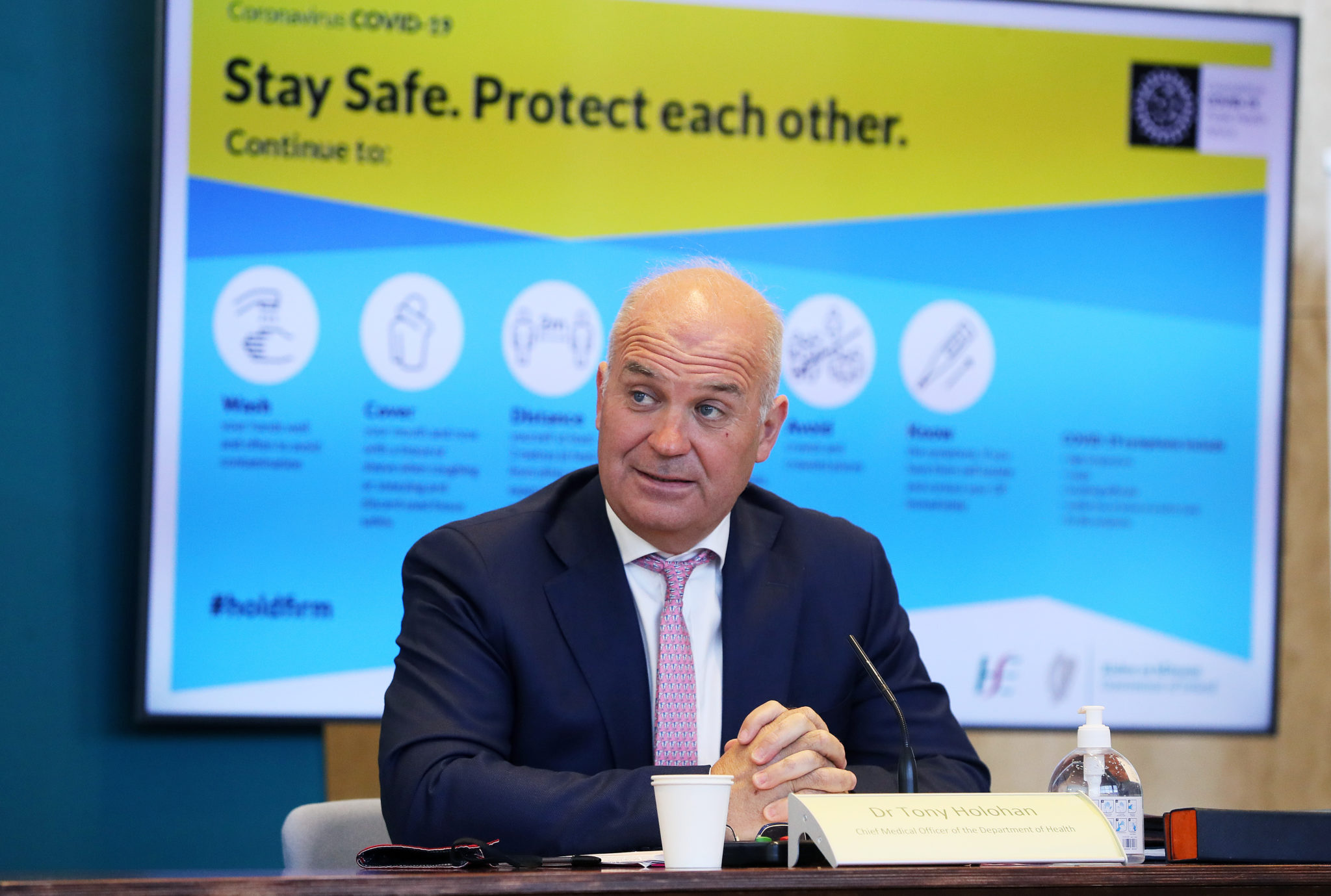 The CMO Dr Tony Holohan during a briefing at the Department of Health in Dublin, 07-05-2021. Image: Brian Lawless/PA Wire/PA Images