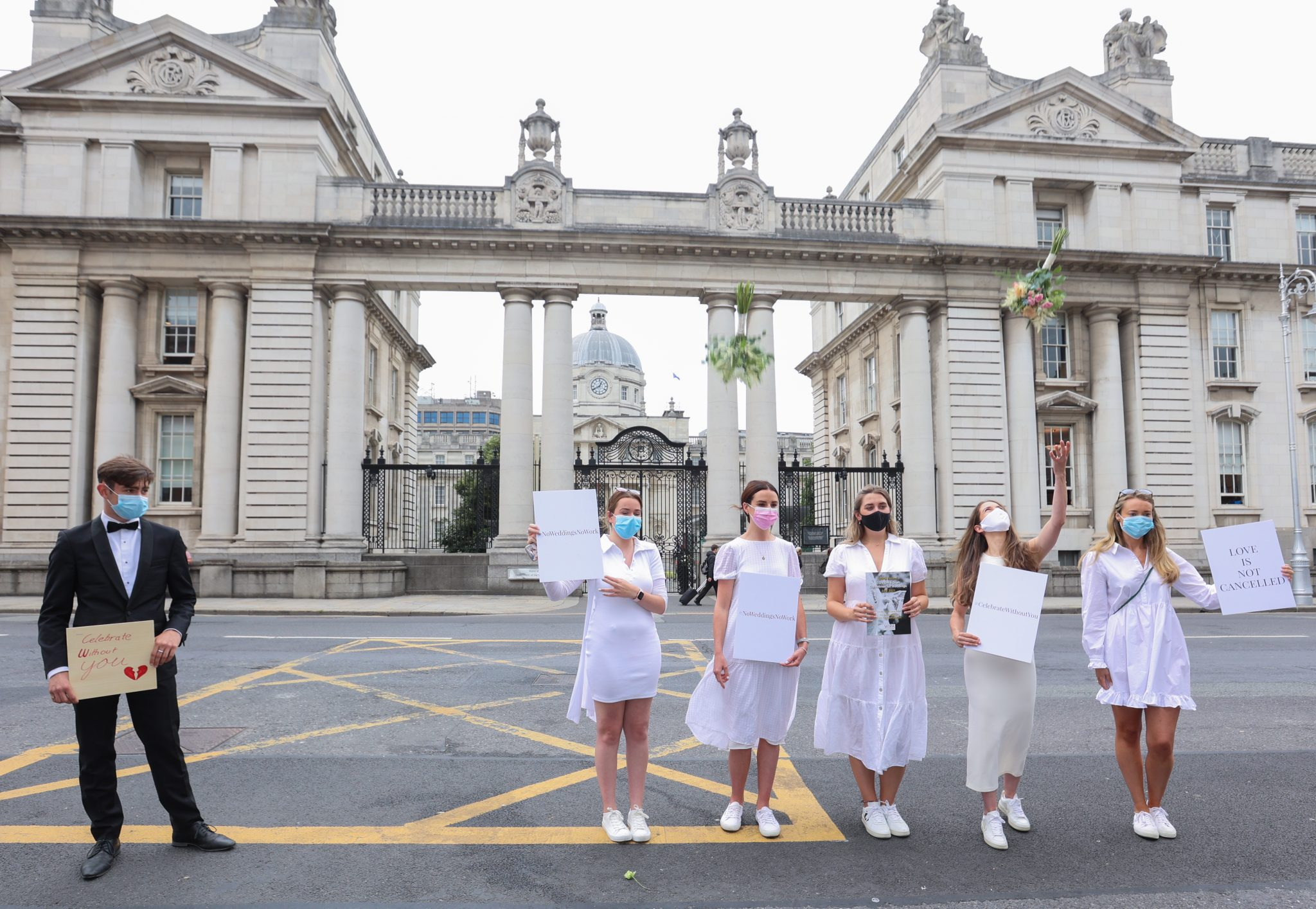Brides-to-be outside Government Buildings, 27-07-2021. Image: Sam Boal/RollingNews