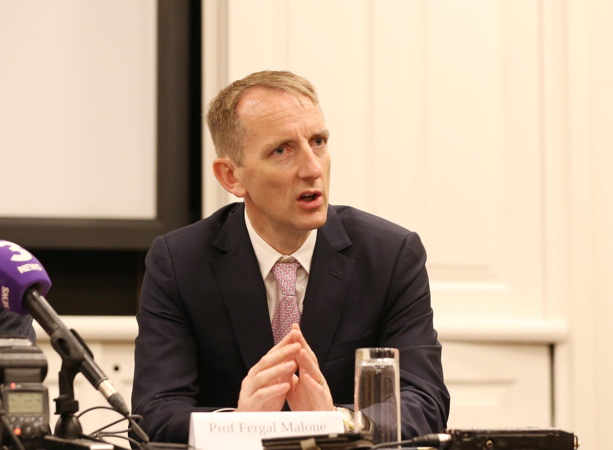 Master of the Rotunda Hospital, Prof Fergal Malone, addresses the media at a Dublin press conference in 2018.