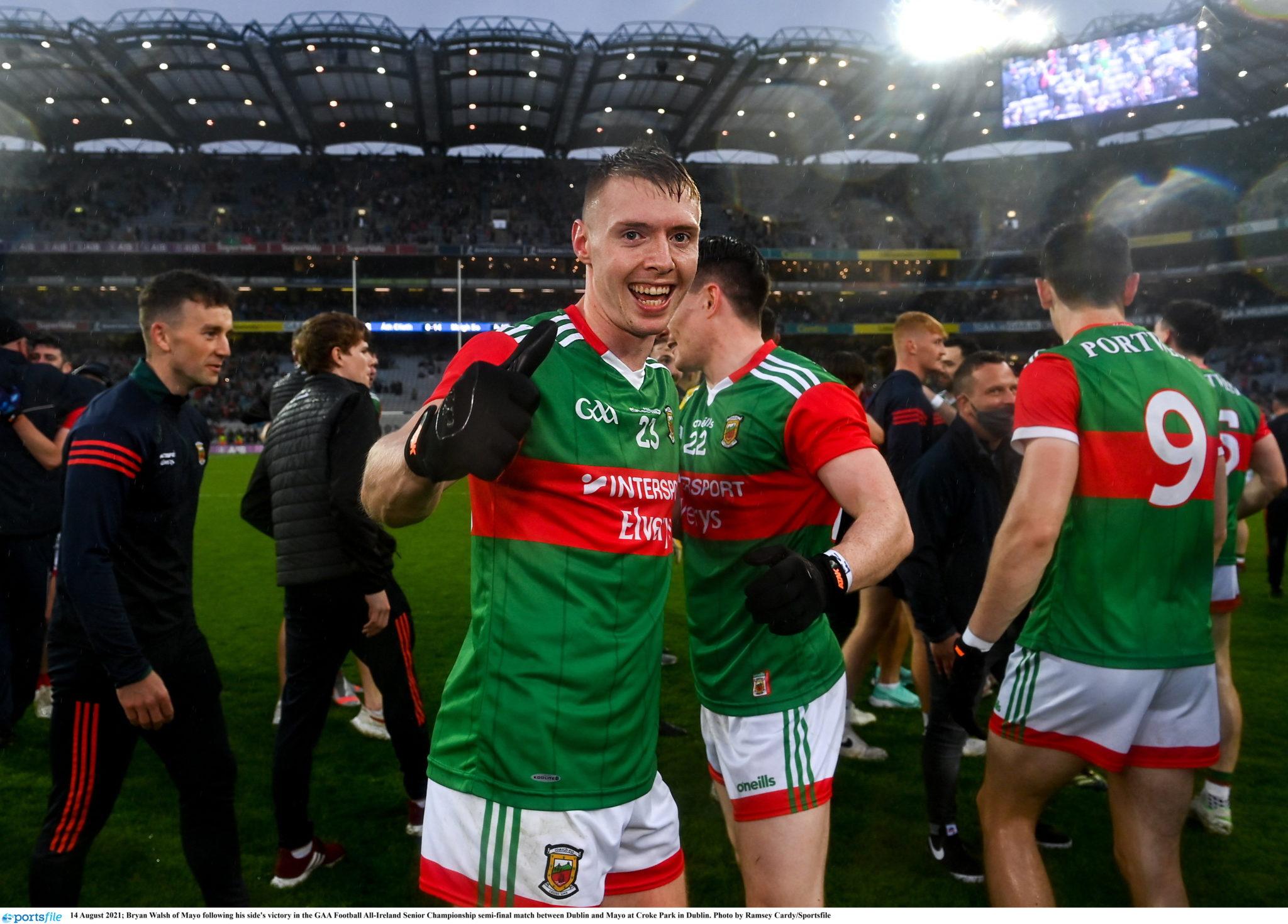 Bryan Walsh celebrates Mayo's win over Dublin