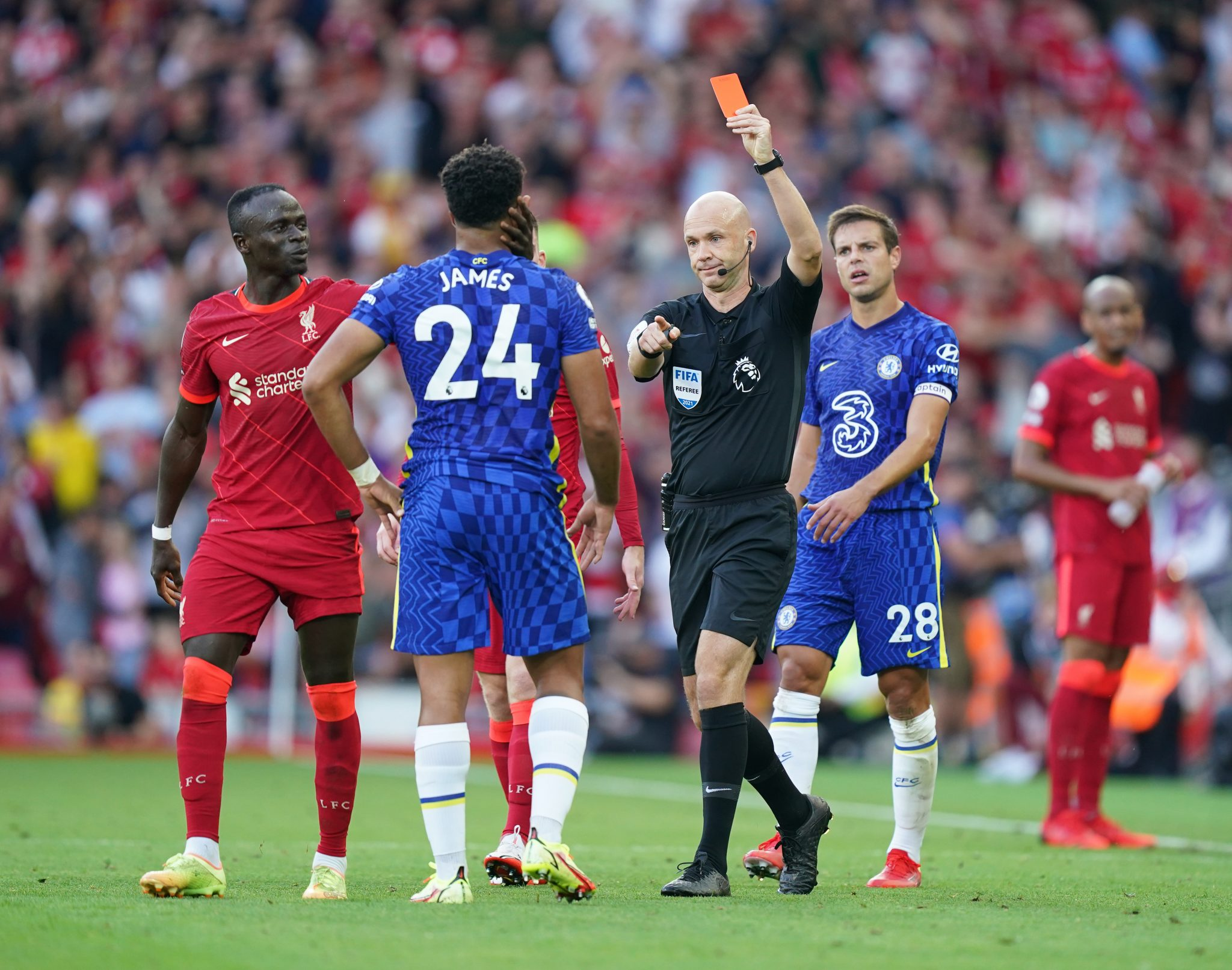 Chelsea Liverpool Red Card