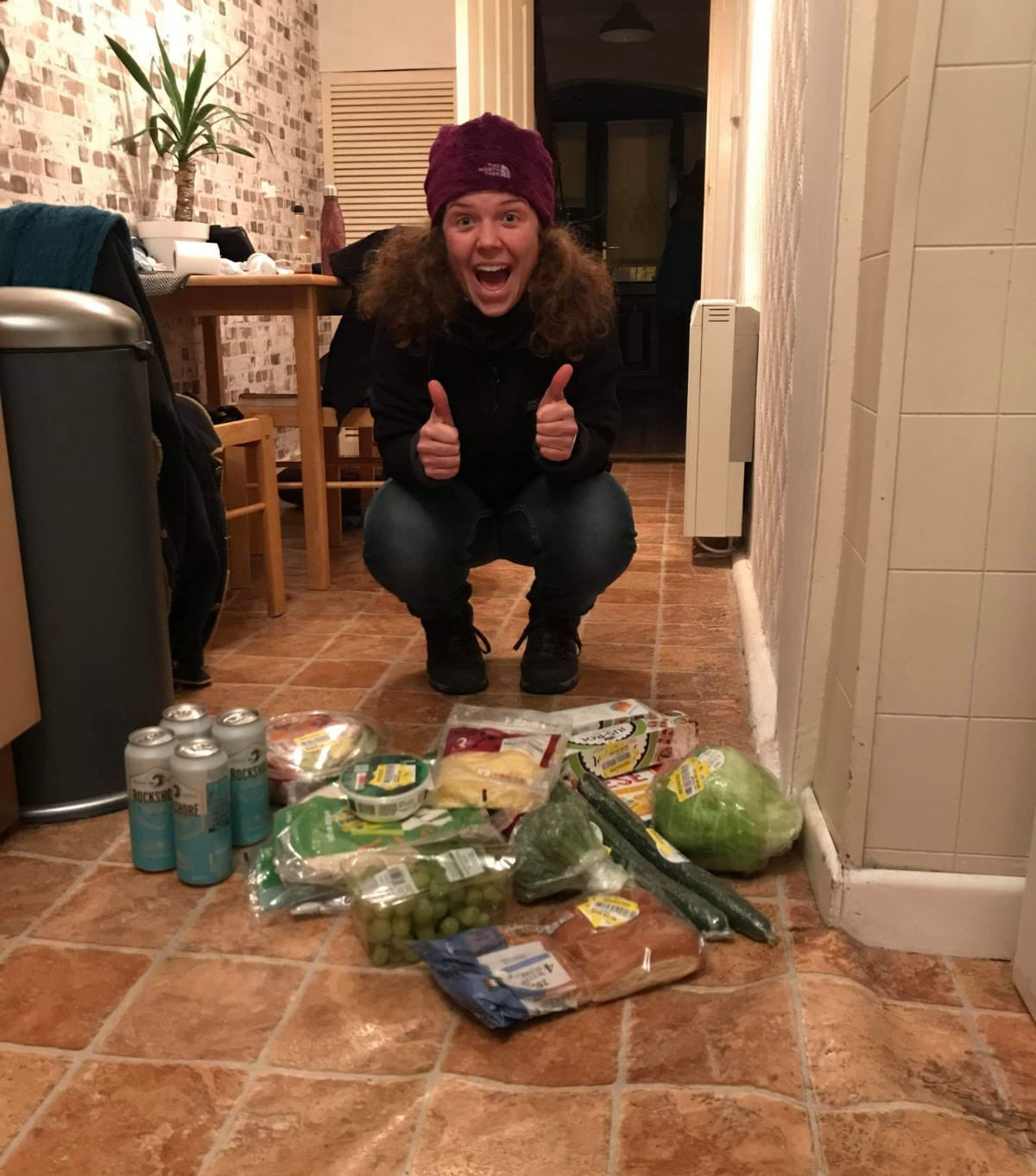 Henry McKean goes dumpster diving with Caitlin Weich. Image: Newstalk