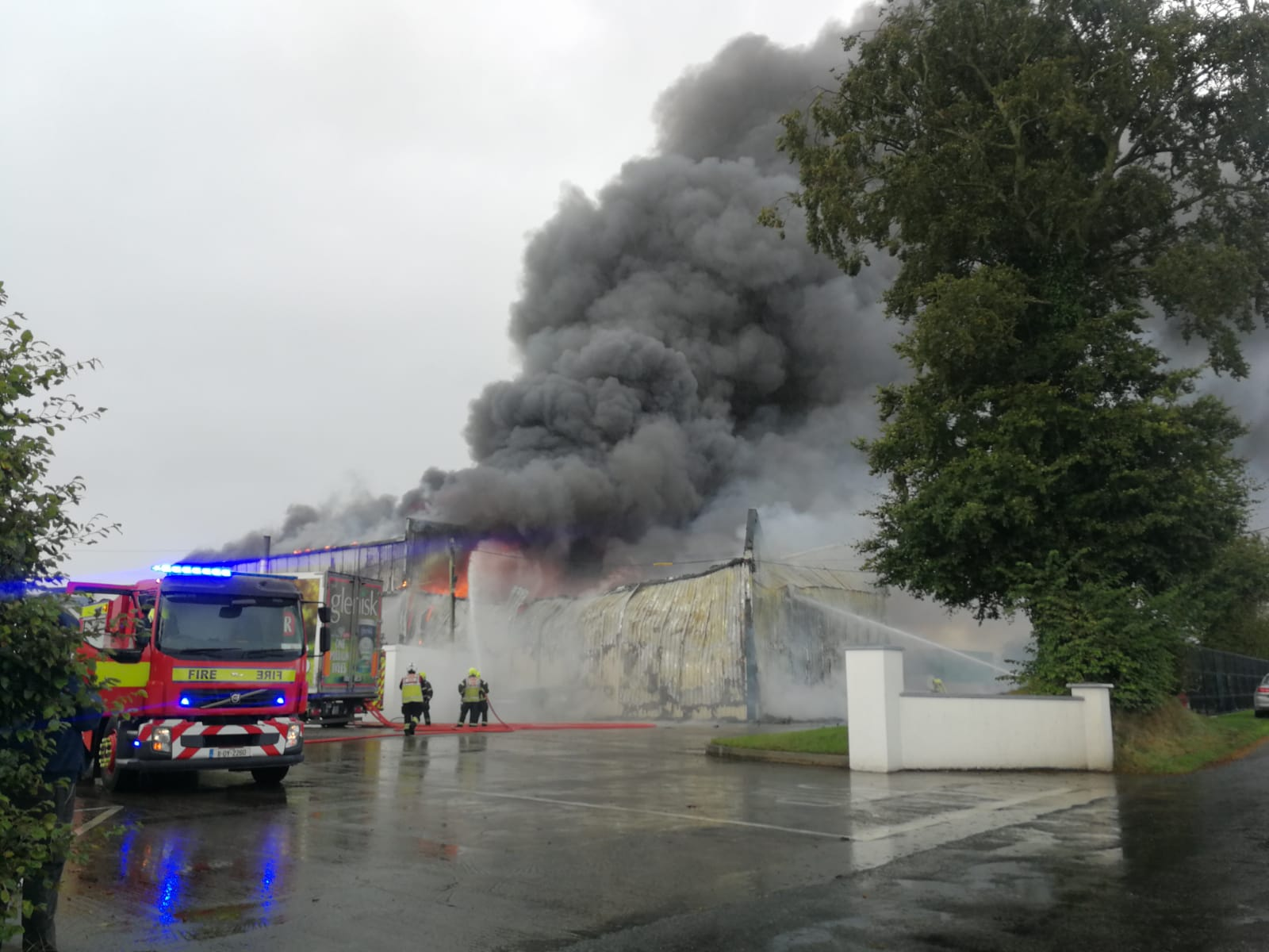 A serious fire at the Glenisk plant in County Offaly
