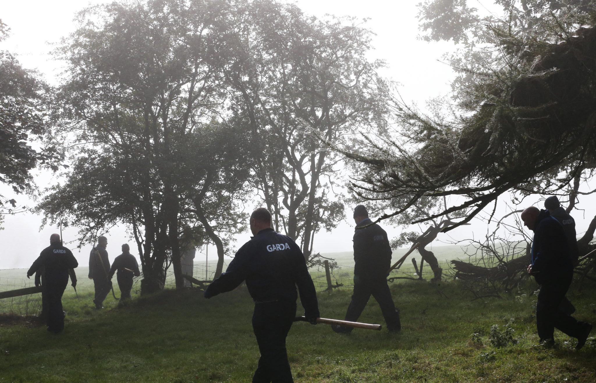 Gardaí searching woodland in Kildare