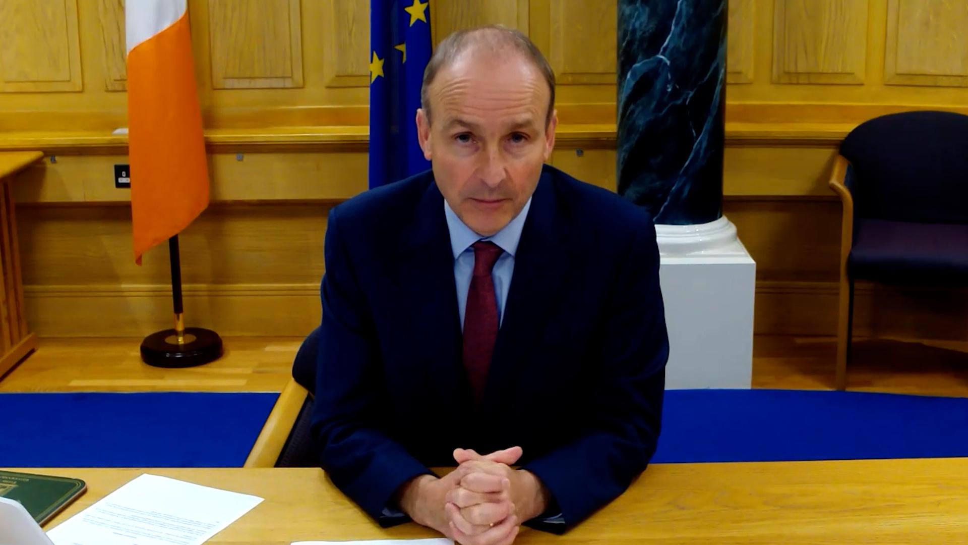 Taoiseach Micheál Martin speaks to Newstalk Breakfast from his office in Dublin city.