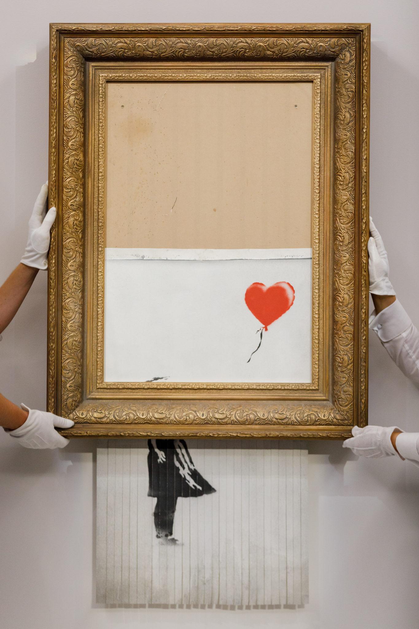 Banksy 'Love is in the Bin'. Image: Sotheby's London